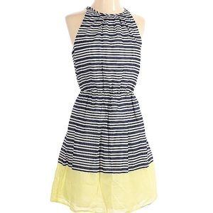 OLD NAVY Striped Color Block Peplum Tank Dress